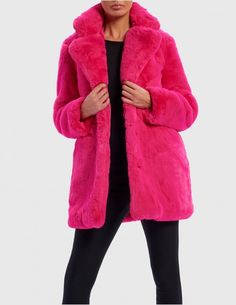2d30aaeec93 Break conventions with this vibrant hot pink faux fur jacket! This bright pink  jacket is guaranteed to make heads turn for the right reasons.