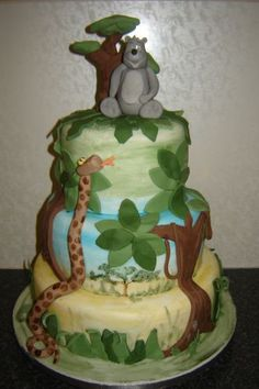Its A Jungle Out There Book cakes Birthday cake cupcakes and Cake