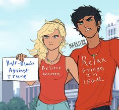 Percy Jackson and Anabeth Chase Percy Jackson Characters, Percy Jackson Quotes, Percy Jackson Books, Percy Jackson Fandom, Percy Jackson Fan Art Funny, Percy Jackson Ships, Percy Jackson Drawings, Percabeth, Solangelo