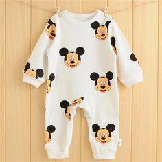 Rompers katun Bayi Musim Gugur Bayi Pakaian bayi Musim Semi Bayi Laki-laki Pakaian Roupa Bayi Jumpsuits Lucu Bayi Perempuan Pakaian