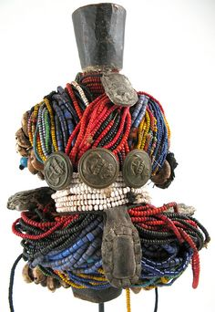 Beaded Doll with buttons & Amulets, Fali, Cameroon | Ann Porteus/Flickr - Photo Sharing!