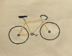 bicycle embroidery for beach quilt