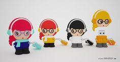 USBdolls  - stylish - kwaii - pendrive by Benny Sweetfurious, via Behance