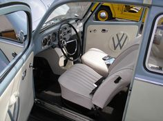 1967 Volkswagen Beetle Sedan (sort of), interior Volkswagen Beetle Vintage, Volkswagen Bus, Volkswagen Beetle Interior, Vw Camper, Ford Mustang Coupe, Carros Retro, Vw Super Beetle, Bug Car, Charger Rt