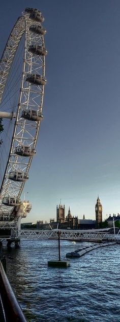 The London Eye and the Houses of Parliament - London, UK