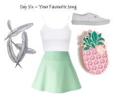 """~Day 6~ Lost Boy"" by tasialynn03 ❤ liked on Polyvore featuring Topshop, RED Valentino, Vans and Lolli Swim"