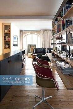 Modern office Contemporary Home Offices, Contemporary Style, Office Images, Study Space, Interior Photography, Table, Furniture, Home Decor, Home Office