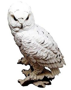 """Amazon.com: Custom & Unique {9"""" Inch} 1 Single, Home & Garden """"Standing"""" Figurine Decoration Made of Grade A Resin w/ Mysterious Nocturnal Owl Style {White & Yellow Color}: Home & Kitchen"""