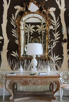 Brown Walls and Chinoiserie
