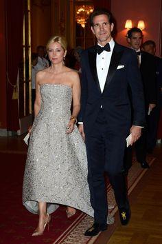 Princess Marie Chental in Oscar de la Renta gown