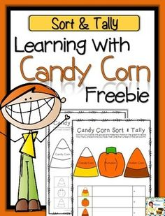 Free | Fun | Activity | Candy Corn| Math | Sorting | Tallying Students love using candy to practice skills!  You will need to have some Autumn Mix candy to do this sort and tally activity! This is the mix of candy corn, Indian corn, and pumpkins! Comes in color and black and white.