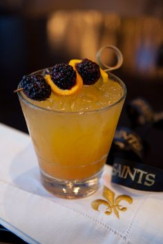 Saintly Brees - New Orleans cocktail recipe by Hotel Monteleone