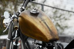 69 Brass Balls Chopper with Brass Patina Look by Darwin Motorcycles 1