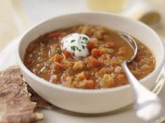 Lentil Soup With Cauliflower and Yogurt
