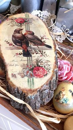 Made Witherspoon wood (trunk) - decoupage