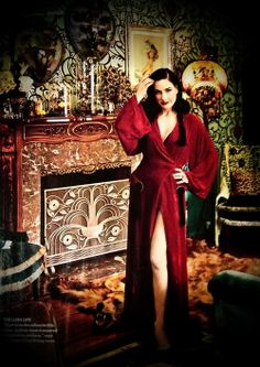 ~ Dita Von Teese looking glam at home in LA