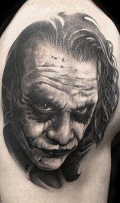 Heath Ledger / The Joker Tattoo by Bob Tyrrell