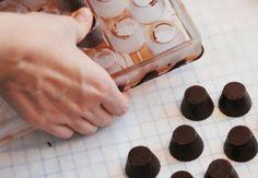 Fyldte chokolader med karamel