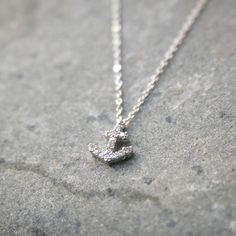 Small Anchor Necklace at Kellinsilver – silver anchor necklace, anchor pendant necklace, anchor jewelry charms, anchor jewellery
