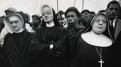 Nuns walk with civil rights protesters in Selma, Alabama.