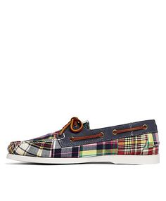 a7d3a7aee4e Patchwork Madras Boat Shoes - Brooks Brothers Plaid Suit