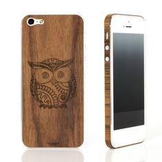 iPhone 5 Owl Walnut Set