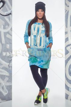 MissQ Lovely Time Blue Dress Daily Dress, Fabric Textures, Product Label, Clothing Items, Farmer, Blue Dresses, Graphic Sweatshirt, Sporty, Leggings