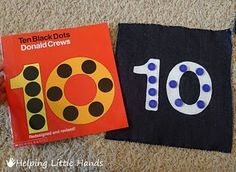 I remember Donald Crews books from when I was a child.so when I saw 10 Black Dots by Donal. Preschool Scavenger Hunt, Kindergarten Math Activities, Preschool Books, Book Activities, Toddler Activities, Preschool Activities, Preschool Education, Toddler Fun, Math Resources