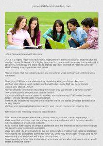 Personal statement website