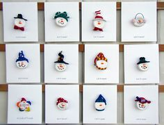 polymer clay snowman heads