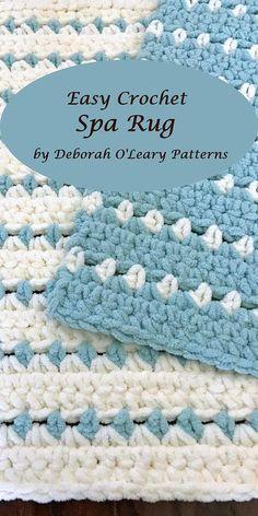 Crochet Rug and Placemat Pattern Easy Pattern - Super Bulky Yarn #easy #crochet #rug #deboraholearypatterns