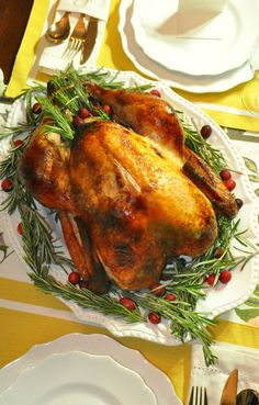 Delicious, moist Thanksgiving turkey brined with Wish-Bone's Italian Dressing