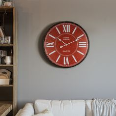 Home Decor 60cm Creative Wall Clock Retro Iron Roman Numerals Mute Wall Clock Battery Operated Round Wall Clock For Living Room Decor Finely Processed Back To Search Resultshome & Garden