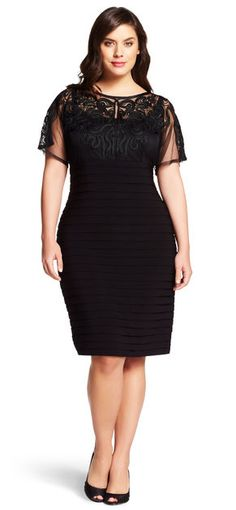 Adrianna Papell Soutache Detail Shutter Pleat Sheath Dress - Wedding Dresses Bridal Gowns,Prom Dresses On Sale Prom Dresses For Sale, Petite Dresses, Plus Size Dresses, Short Sleeve Dresses, Dresses With Sleeves, Curvy Girl Fashion, Plus Size Fashion, Dresser, Party Fashion
