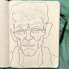 Old man sketch #drawing #doodle #dessin #sketch #sketchbook #moleskine #portrait #old #man #face #wrinkles #line #linedrawing  #art #pencil #paris #illustration #carnet #artist