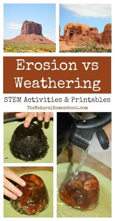 Weathering vs Erosion ~ Awesome Science STEM Activities is a super easy and fun .- Weathering vs Erosion ~ Awesome Science STEM Activities is a super easy and fun Science experiment that will teach your kids how the earth works. Easy Science Experiments, Science Fair, Science Lessons, Life Science, Teaching Science, Physical Science, Science Education, Outdoor Education, Plant Science