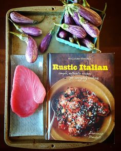 What to do with tuna steak? Inspiration from Domenica Marchetti's Rustic Italian. Dinner In 20 Minutes: Seared Tuna Steak With Sautéed Eggplant