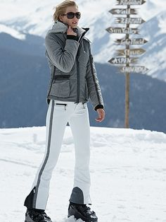 White ski pants would be cute with my black ski jacket!