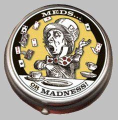 Mad Hatter Pill Box