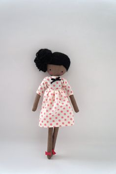 Handmade rag doll Tina in a dotty dress | by lassandaliasdeana