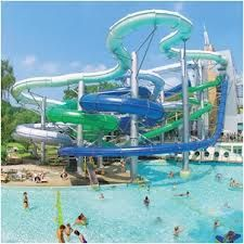 This'd be some corner on the grounds Where students can just chill or slide or swim or anything really!