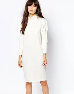 Image 1 ofVero Moda High Neck Seam Detail Dress