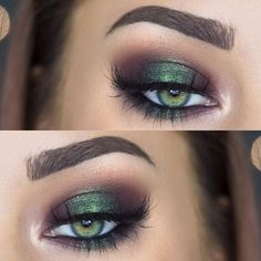 "metallic emerald green smokey eye makeup <a href=""/makenziewilder/"" title=""Makenzie Wilder"">@Makenzie Wilder</a>"