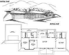**Royal Oak Home Design (kind of a weird long hall from the garage, but would be a great place to be in a tornado warning! Small House Floor Plans, Basement House Plans, New House Plans, Underground House Plans, Underground Homes, Earth Sheltered Homes, Sheltered Housing, Royal Oak Homes, Building Design