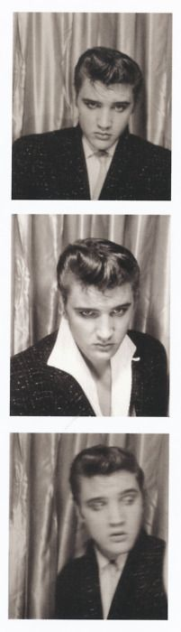The king of rock and roll: Elvis Presley perfects his trademark lip curl. Vintage Photo Booths, Vintage Photos, Vintage Photography, Portrait Photography, Rock And Roll, Photos Booth, 4 Photos, Photo Star, Young Elvis