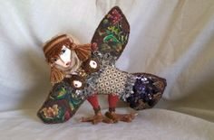 Art Deco Bird of Happines and Harmony Sirin. by 13thPomegranate, $250.00
