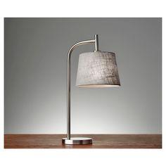 Adesso Blake Table Lamp - Silver