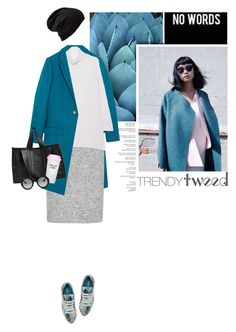 """""""Trendy Tweed"""" by anna-anica ❤ liked on Polyvore featuring J.Crew, Austin Reed, Oats Cashmere, Prada, Corto Moltedo, Bow & Drape, Gucci, Echo, women's clothing and women"""