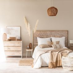 Room Ideas Bedroom, Home Decor Bedroom, Small Room Bedroom, Couple Bedroom, Beige Walls Bedroom, Beige Room, Cream Bedroom Decor, White Rustic Bedroom, White And Brown Bedroom