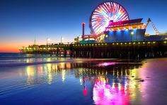 Most Romantic Destinations in Los Angeles | What's more romantic than an old fashioned Ferris Wheel date? Take your crush to the Santa Monica Pier for a fun, active date!